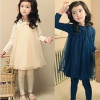 2013 autumn girl long sleeve kids baby dress,girls princess dresses for party,children clothing for girl,wholesale