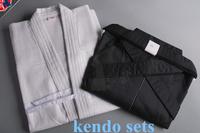 High Quality White and Black Kendo Aikido Iaido Hakama Gi Martial Arts Uniform Sportswear Kimono Dobok Free Shipping