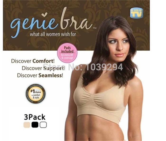 3pcs/LOT 3 different Colors Guaranteed 100% Genie Bra BODY SHAPER Push Up BREAST Free Shipping(China (Mainland))
