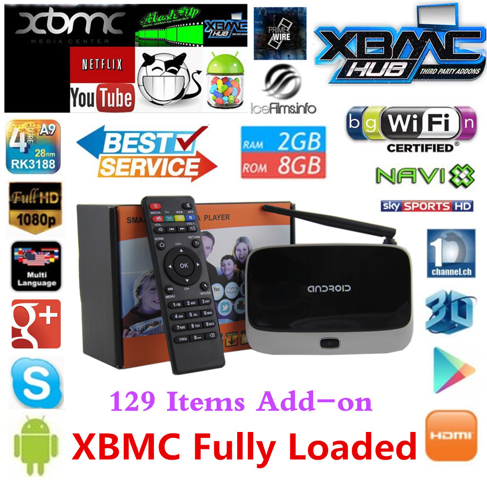 XBMC fully loaded MK888 Q7 cs918 Android TV Box RK3188 2GB/8GB Quad Core Mini PC Smart TV Media Player with Remote Controller(China (Mainland))