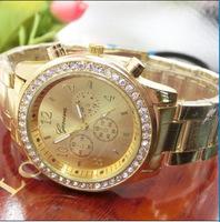 New Arrivals Women's rhinestone Watches Men casual full steel Quartz Sports Watches lover's wristwatches