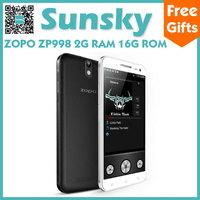 Original ZOPO ZP998 MTK6592 Octa Core Mobile Phone Android 4.2 5.5inch Full HD Screen 1080P 3G/GPS/NFC/OTG/Gyroscope Smartphone