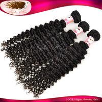 6A Grade Ms Lula Brazilian Deep Wave Virgin Hair Curll Weaving Dark Brown Cheap Brazilian Cur Hair Mixed 3 Pcs Lot Free Shipping