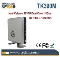 Super Home Computer Mini PC Windows 7 OS Intel Celeron 1037u Dual Core 1.8Ghz HD2000 Graphics 4USB 2G RAM 8G SSD