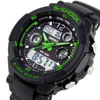 2014 Skmei 0931 Men Sports Military Watches Brand Fashion Casual Wristwatch Men's Digital Watch (Green) Hot Sale