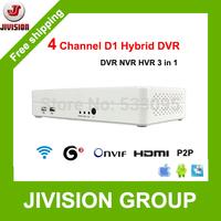 ONVIF 4CH DVR Mini Hybrid DVR NVR HVR HDMI 1080P Full D1 960H P2P Cloud H.264 network video recorder 4 channel mini dvr recorder