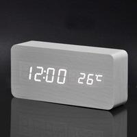 Best High-end Digital clocks, Desktop Clock Home Decor Thermometer Wooden  LED clock + Alarm Clock