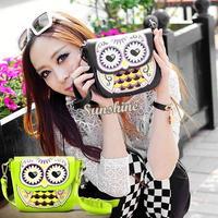 2014 New Women Ladies Retro Shoulder Bag Fashion Messenger Bags Cute School Tote Owl Fox PU Handbags SV001125 b009