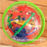 Top quality Hot sale Promotion 929A Small Educational Magic Intellect Ball Marble Puzzle Game Great Gift for Kids-100 Steps
