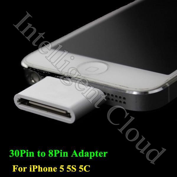 2PCS/Lot 30pin To 8pin Adapter Charger And Sync Data 8pin To 30pin Adapter for iPhone 6/5/5S/5C iPad 4 Mini 2 Air Free Shipping(China (Mainla