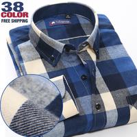 2014 brand flannel casual shirt men camisas long sleeve plaid mens dress shirts dudalina camisa masculina 100% cotton warm shirt