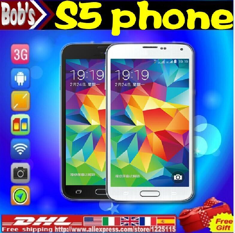 Véritable s5 octa core téléphone mtk6592 rom 16gb caméra. 16.0mp android. 4.4 1:1 s5 i9600 mtk6582 quad core mobile cellulaire téléphone intelligent + logo