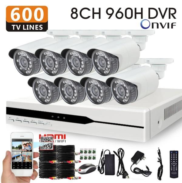 Система видеонаблюдения HIVISION 8/DVR 600 DVR 8ch 960H hdmi 1080P NVR HVR onvif 3g wifi HI-9318VA-600TVL cctv видеорегистратор flying 8 8ch d1 h 264 1080p nvr hdmi cctv dvr hvr nvr onvif fl hvr5708ir