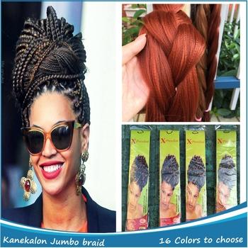 100 bulk kanekalon for braiding synthetic hair extensions