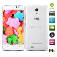 4000Mah Original THL 4000 4.7'' MTK6582 Quad core Cell Phone Android 4.4 1G RAM 8GB ROM OTG 3G IPS OTG Unlocked mobile phone W