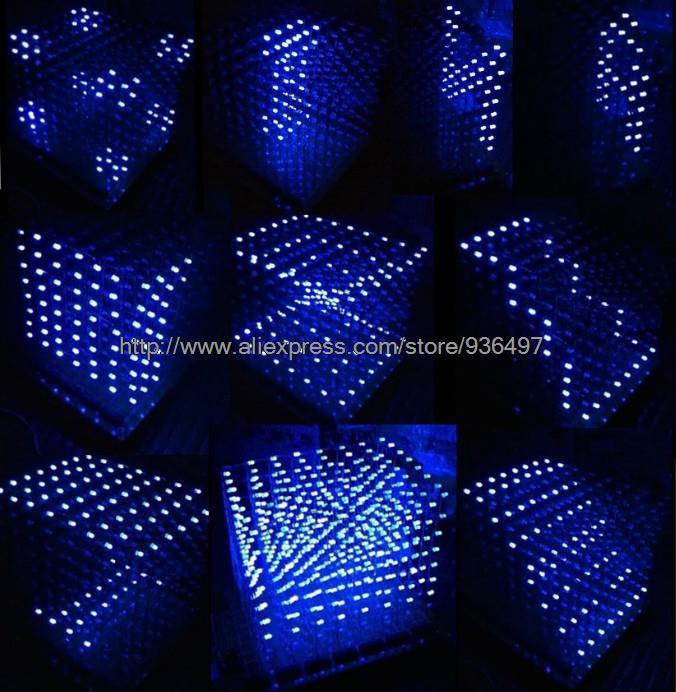 Из светодиодов куб 3d из