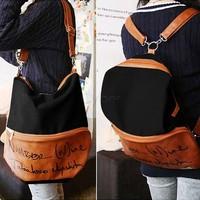Canvas Girls Female Travel Hiking Shop Shoulder Bag Backpack Cute Bookbag Satchel Zipper Crossbody Bags 3 Colors SV18 SV008464