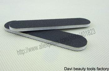 black mini nail file 100/180 emery board 100pcs/lot emery file nail art FREE SHIPPING #SC0311-02