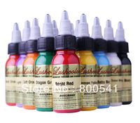 LUSHCOLOR tattoo ink (10 bottles/lot) free shipping 10 colors 30ml/bottle