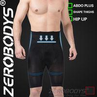 10pcs ZEROBODYS Incredible Mens Body Shaper High Waist Hip Up Long Trunks 171 BK Mens Underwear Men's Compression Pants Tights