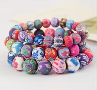 OMH wholesale 6-10 mm colours jewelry loveliness polymer clay women's bracelet SZ10