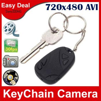 808 Car Key  Mini DV DVR With TF Card Slot Mini Keychain Hidden Camera Retail Package 50Pcs/Lot Free DHL