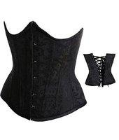 Free shipping!! Cincher Underbust Corset Black sexy lingerie wholesale retail 8172