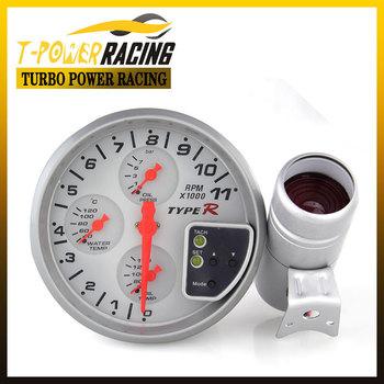 "5"" White  4-in-1 tachometer ,rpm gauge,oil temp gauge,oil pressure gauge/Auto meter/Auto gauge/tachometer/Car meter"
