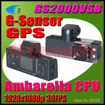 5.0MP Full HD Car DVR 1920x1080P 30FPS Video Recorder w/120 Degrees Lens/HDMI/GPS/G-Sensor/Automatic anti-glare/2-LED GS2000