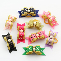 dreambows  Handmade Dog Bows 22037 Grooming For Dogs Pearl Gold Series Bow