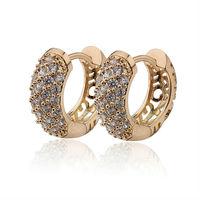 2014 18K Gold Filled CC Hoop Earrings Bijoux Women Brand Earring Jewelry Brinco Ouro Earings Fashion 2013 Free Shipping E18K-49