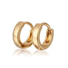 Aliexpress Sale 18K Gold Plated Hoop Earrings For Girls/Children Earring New 2014 Fashion Free Shipping (E18K-82)(China (Mainland))