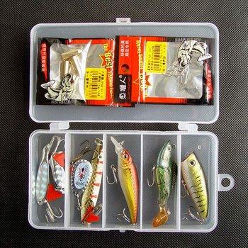 Free shipping,New Arrivals Fishing Lure Hard Plastic Minnow/Popper,Metal Spoon/Spinner,Soft Fish 10g-18g/5cm-10cm 7pcs/box