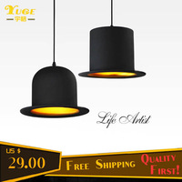 Free Shipping Hat Pendant Lights with Aluminum Material