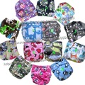 14 prints washable baby cloth diapering diaper napkinNappies Nappy Diapers1pcs cloth diaper+2pcs inserts