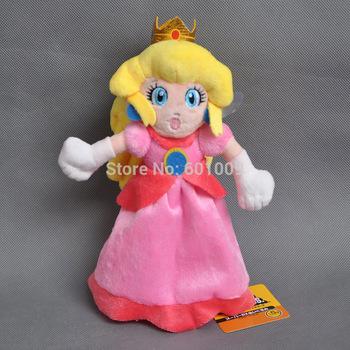 "Free Shipping EMS 100/Lot Super Mario Plush 8"" Princess Peach Plush Doll Wholesale"