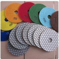 "4""dry polishing pads/diamond polishing pads/2.1mm thick/0.19kg each piece/High quality and great performance"