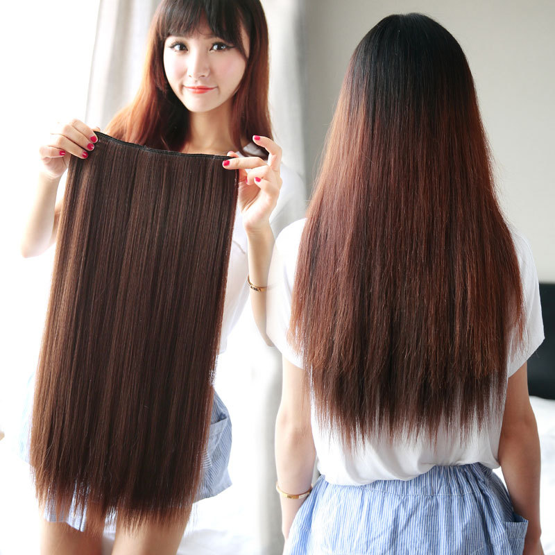 Free Shipping-Promotion! 5 clip-in hair extension/hair pieces one piece for full head 10colors available-Best Price(China (Mainland))