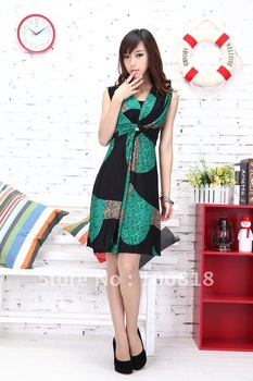 5pcs /lot 2012 brand new Bohemian dress .maxi dress for women red green