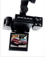 very good product car dvr dual lens car camera recorder wide-angle H200N car black box Free shipping