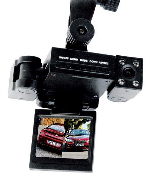 very good product car dvr dual lens car camera recorder wide-angle H200N car black box Free shipping(China (Mainland))