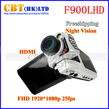 Hot ! F900 Car dvr camera full HD 1080P 120 degree lens 2.5 inch screen night vision  F900LHD  HD  Dash camera DVR recorder