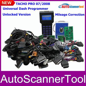 2014 Full Cable Adaptors A+ Quality Tacho Universal Pro Dash Programmer Tacho Pro 2008 Odometer Correction