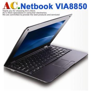 10 inch Laptop Mini Netbook Windows8 UI, OS Android 4.1 VIA8850 512M RAM 4GB ROM HDMI  WIFI Camera Free shipping