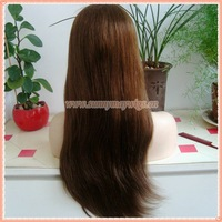 Natural Straight Mongolian Virgin Hair Silk Top Custom Full Lace Wig