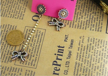 BJ  Fashion Earrings/Fashion jewelry/Asymmetric earrings/Sunflower/#NR055