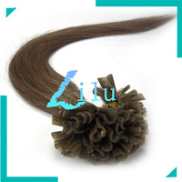 """free shipping 16""""-22""""Pre-Bonded hair U Tip Keratin Glun Nail Tip Hair Extension Silky Straight weaves hair products #08,100s"""