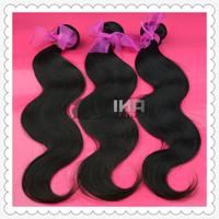 3pcs lot rosa hair products human hair weaves peruvian virgin hair body wave 12-30inch color 1b# free shipping