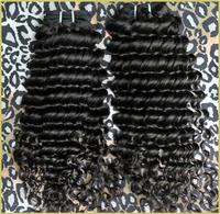 Rosa Hair Products Indian Virgin Hair Deep Wave Curly Hair Weave Human Raw Natural Black Hair  4PCS/Lots Shipping Free