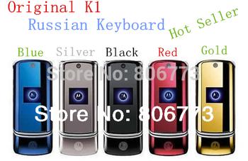 100% phone unlocked original k1 mobile phones Russian keyboard Free Shipping